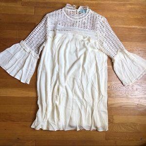 Gauze crochet dress